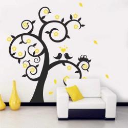 Двуцветно Дърво с гнездо
