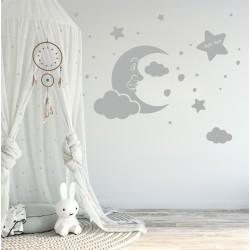 Комплект луна с усмихната звезда