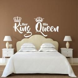 """Стикер""""Неговата кралица - нейния крал"""""""