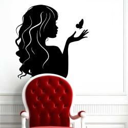 """•Стикер """"Жена и пеперуда"""""""