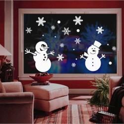 """Стикер""""Снежни човеци""""+комплект снежинки"""