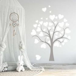 """Стикер""""Дърво с балонени сърца"""""""