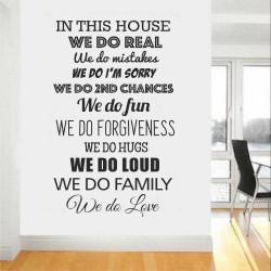 """Стикер""""В тази къща ние сме истински"""""""