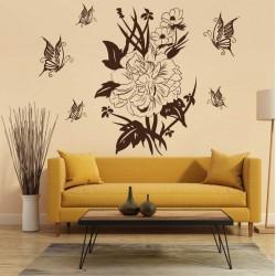 """Стикер """"Цветя и пеперуди"""""""