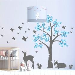 Дърво с еленчета и птички