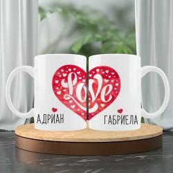 Комплект персонални чаши с момченце и момиченце