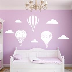 Комплект облаци и балони