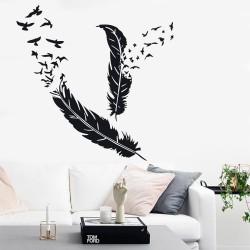 Комплект от 2 пера с птички