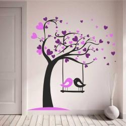 """Стикер """"Трицветно дърво с люлка"""""""